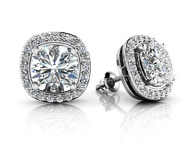 Custom Diamond Earrings Toronto Mobile Image
