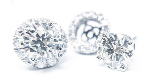 Custom Diamond Earrings Toronto Image