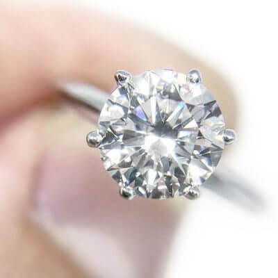 Round Brilliant Cut Solitaire Diamond Engagement Ring