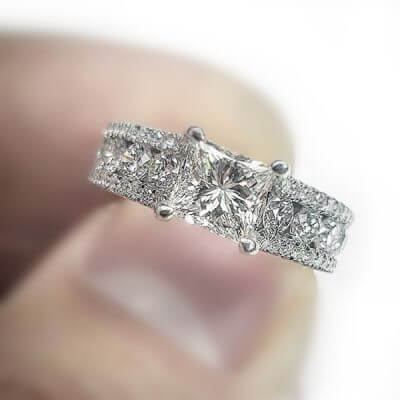 Princess Cut Engagement Ring - Small
