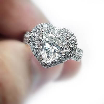 3 carat Heart Shaped Diamond Engagement Ring