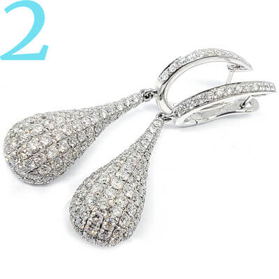Select diamond Earring shape, caret, and color