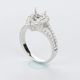 Halo Engagement Ring Mobile Image 18