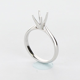Solitaire Engagement Ring Mobile Image 4