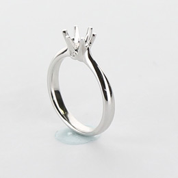 Solitaire Engagement Ring Mobile Image 10